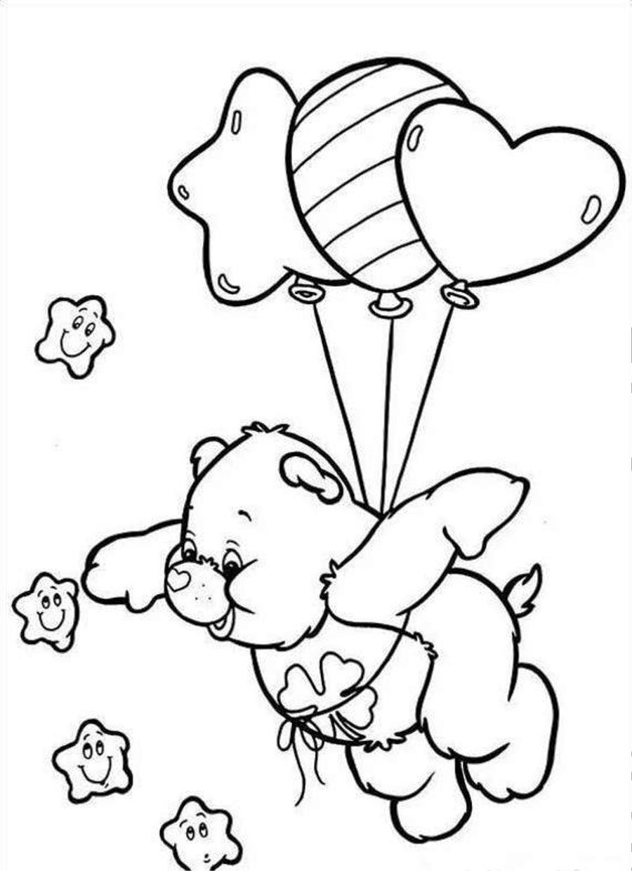 Care Bears Printable Coloring Book 4 | 1240x900