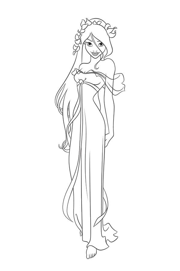 Enchanted Giselle Coloring Pages