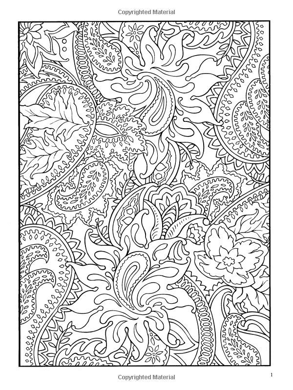 paisley coloring pages peace - photo#34
