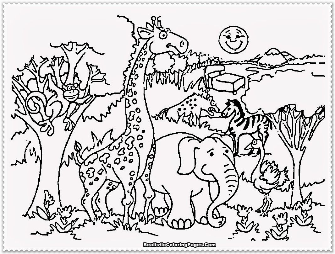Zoo Animal Coloring Pages Printable - Coloring Home