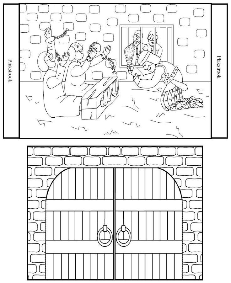 Peter In Prison Coloring Page Home