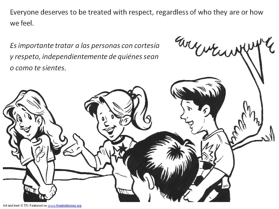 coloring pages about respect - photo#23