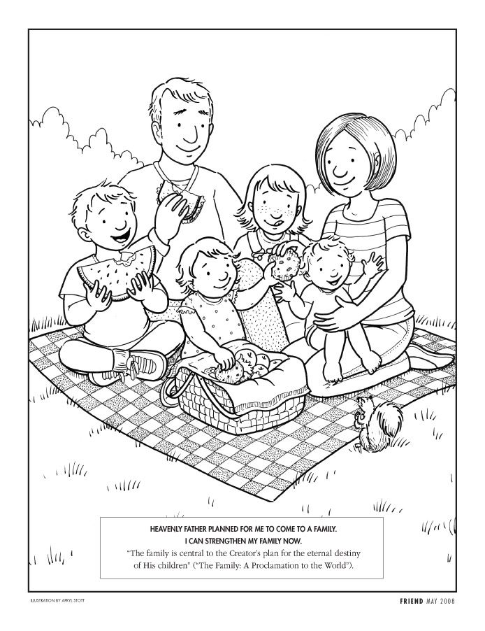 Family themed coloring pages coloring home for My family home page