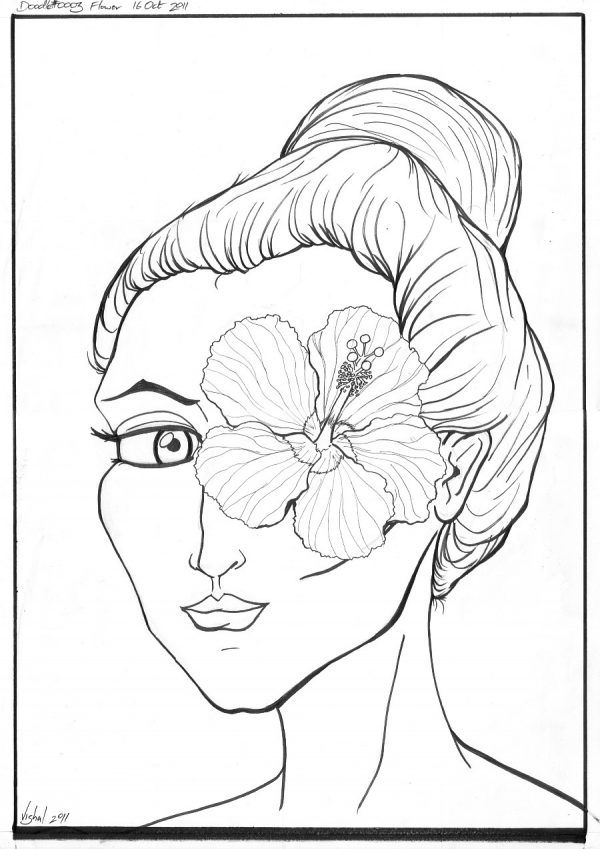 Hibiscus Coloring Pictures Hibiscus Coloring Pages Free Printable ...