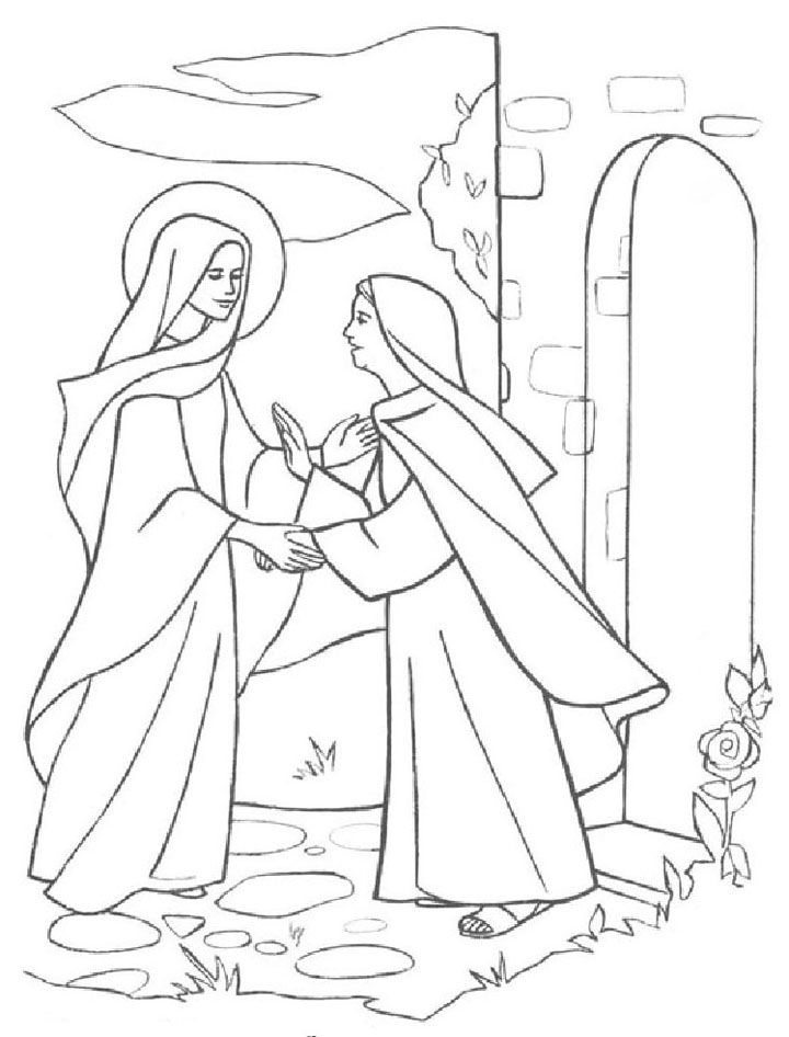 elizabeth bible coloring pages - photo#20