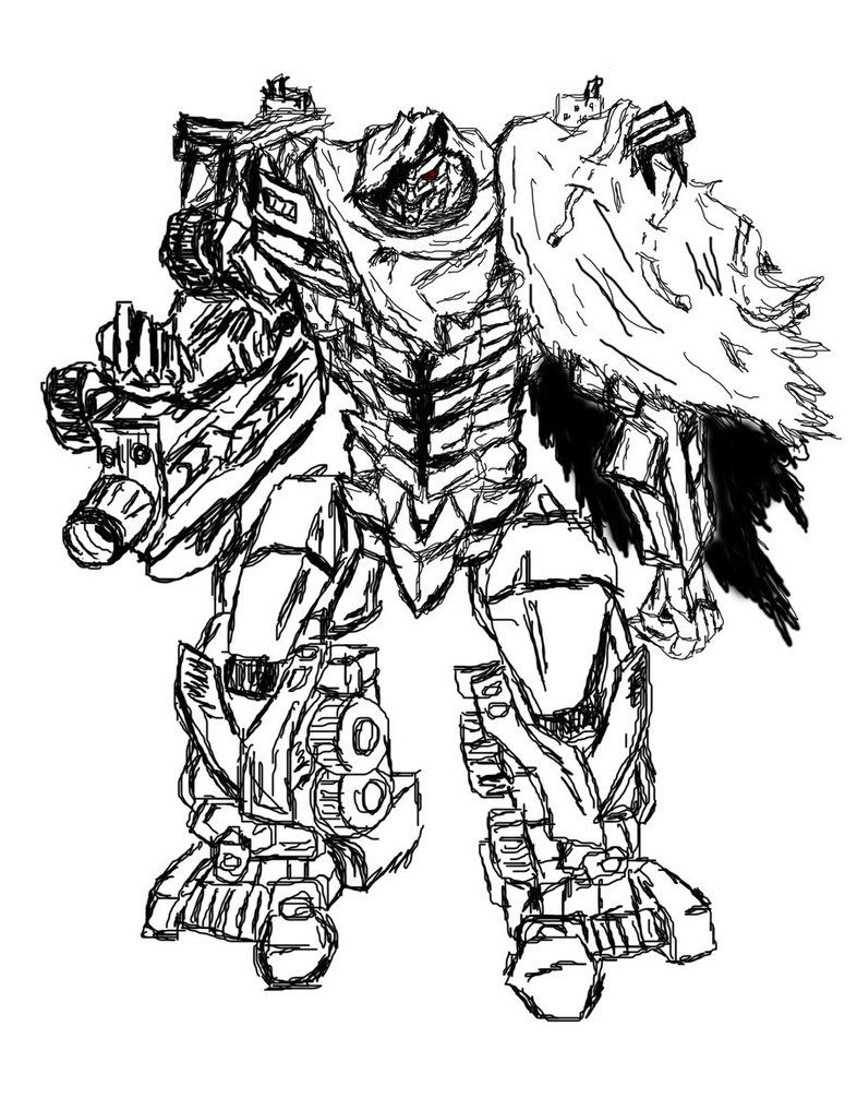 Megatron Coloring Page Coloring