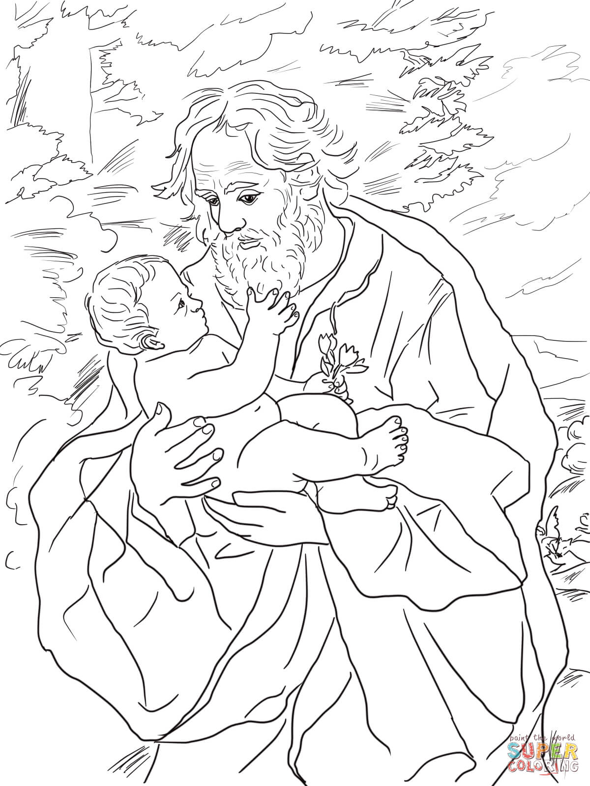 St Joseph Coloring Pages