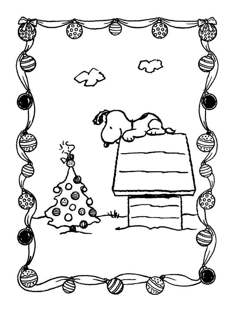 11 Pics of Snoopy Christmas Coloring Pages - It's The Great ...