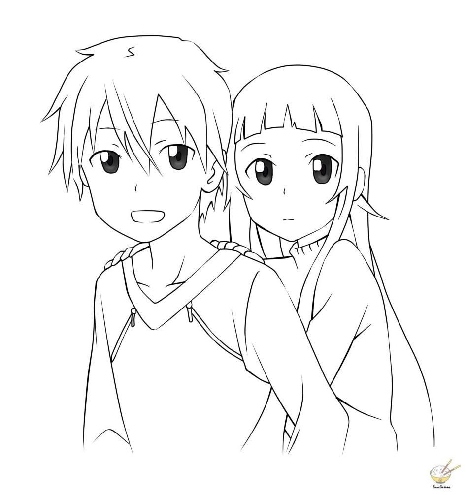 Sword Art Online Coloring Pages Coloring Home Jeffersonclan