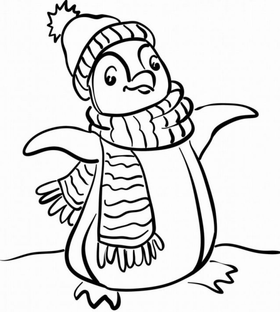 Cartoon Penguins Coloring Pages Printable Free - Coloring Pages ...
