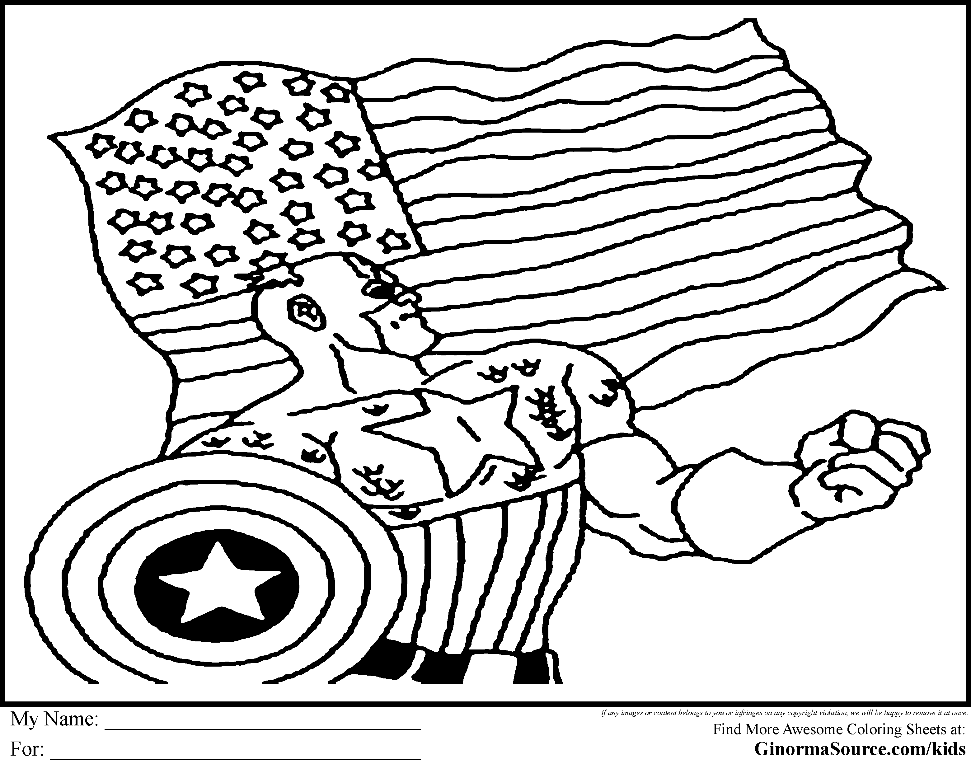 Avengers Captain America Coloring Pages
