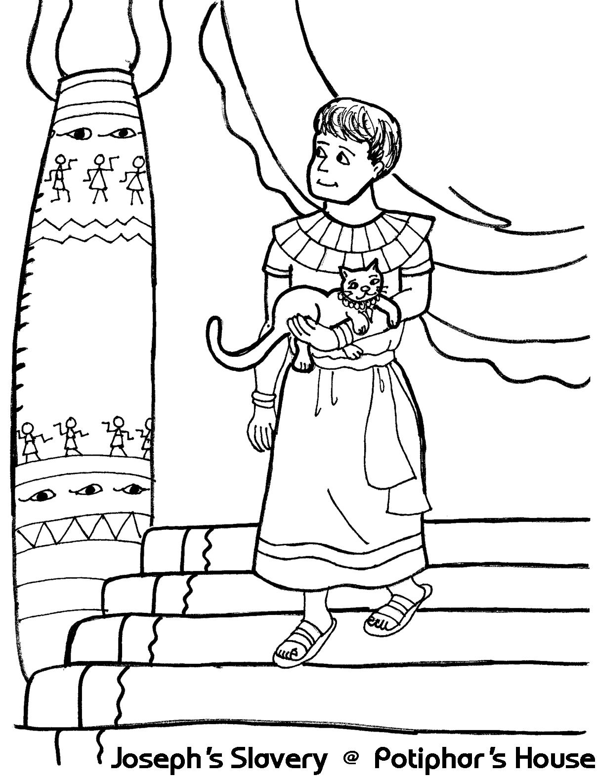 9 Pics of Joseph Sold To Potiphar Coloring Pages - Joseph and ...