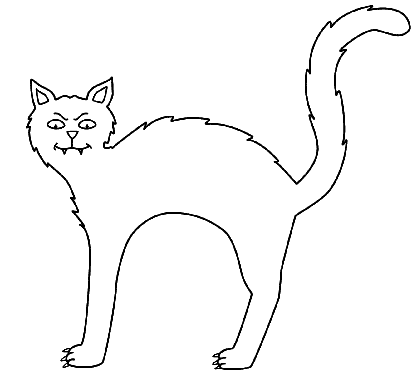 Black Cat Coloring Pages Templates - Coloring Pages For All Ages