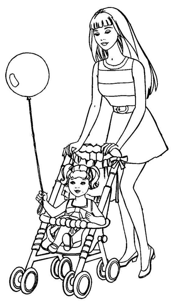 boy barbie coloring pages | Barbie And Kelly Coloring Pages - Coloring Home