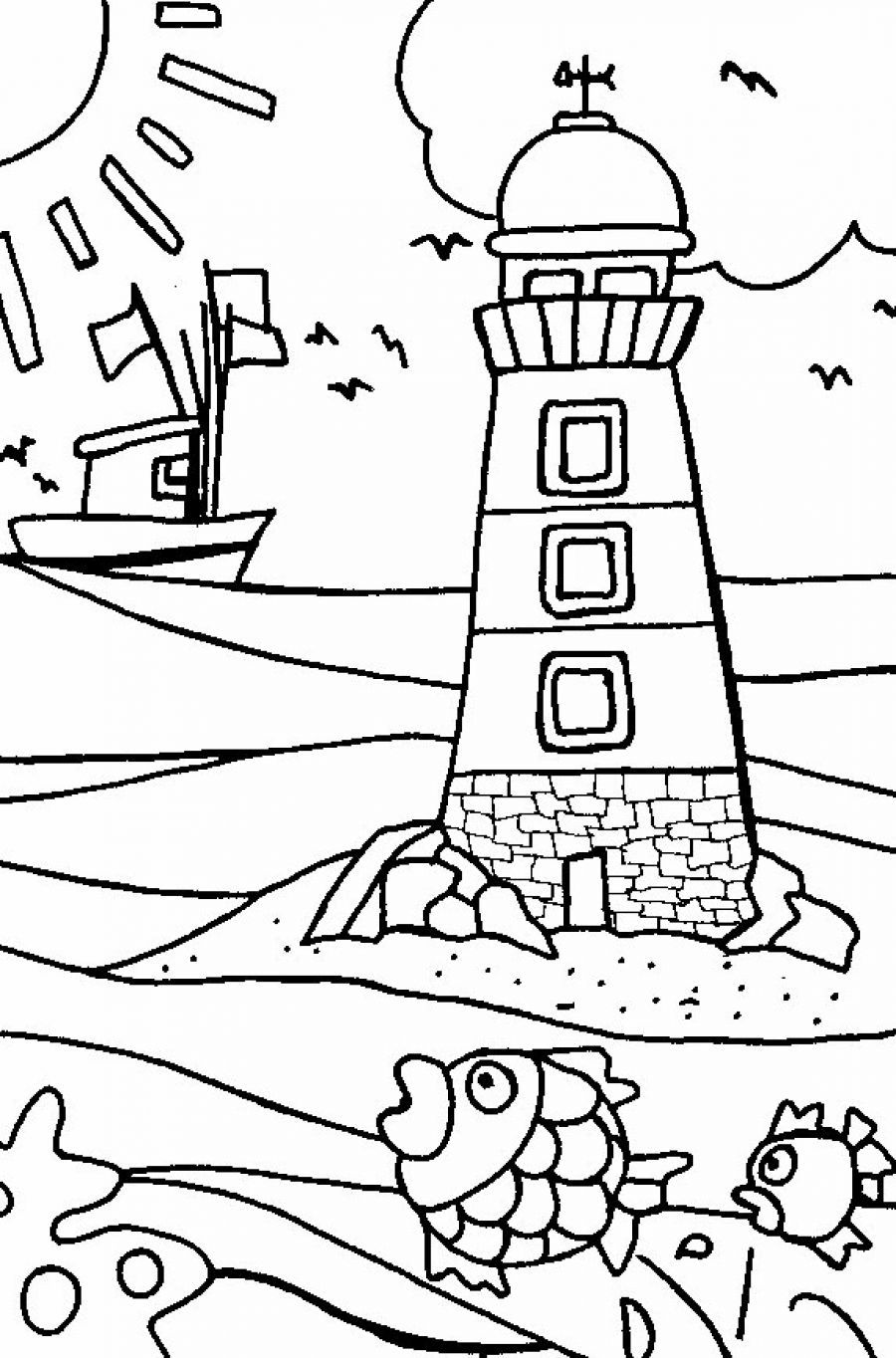 Free coloring pages beach - Beach Coloring Pages For Kids And For Adults