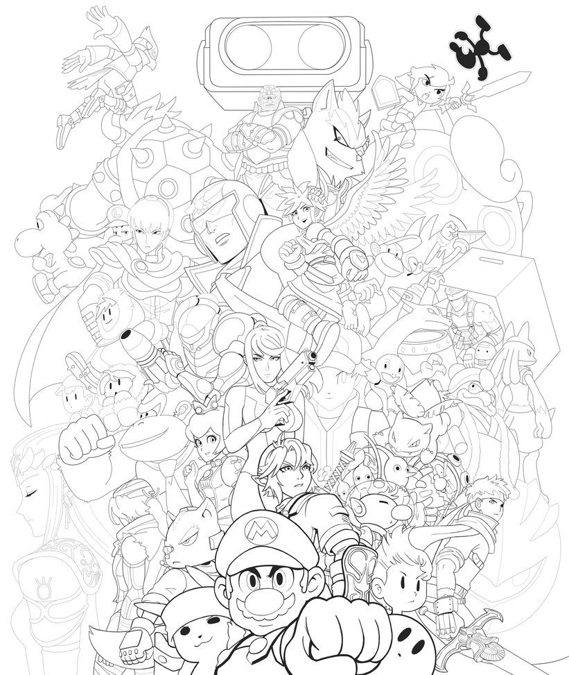 Super Smash Bros Brawl Coloring Pages - Photos Coloring Page Ncsudan.Org