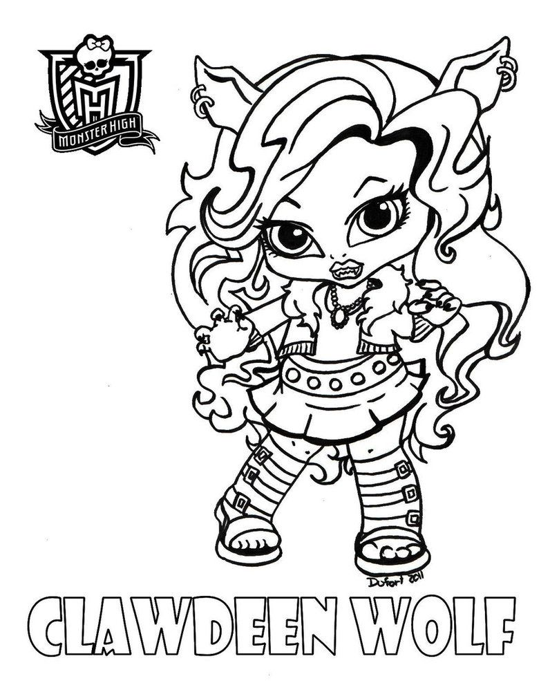 Monster High Coloring Pages Baby Coloring Home High Coloring Pages Baby