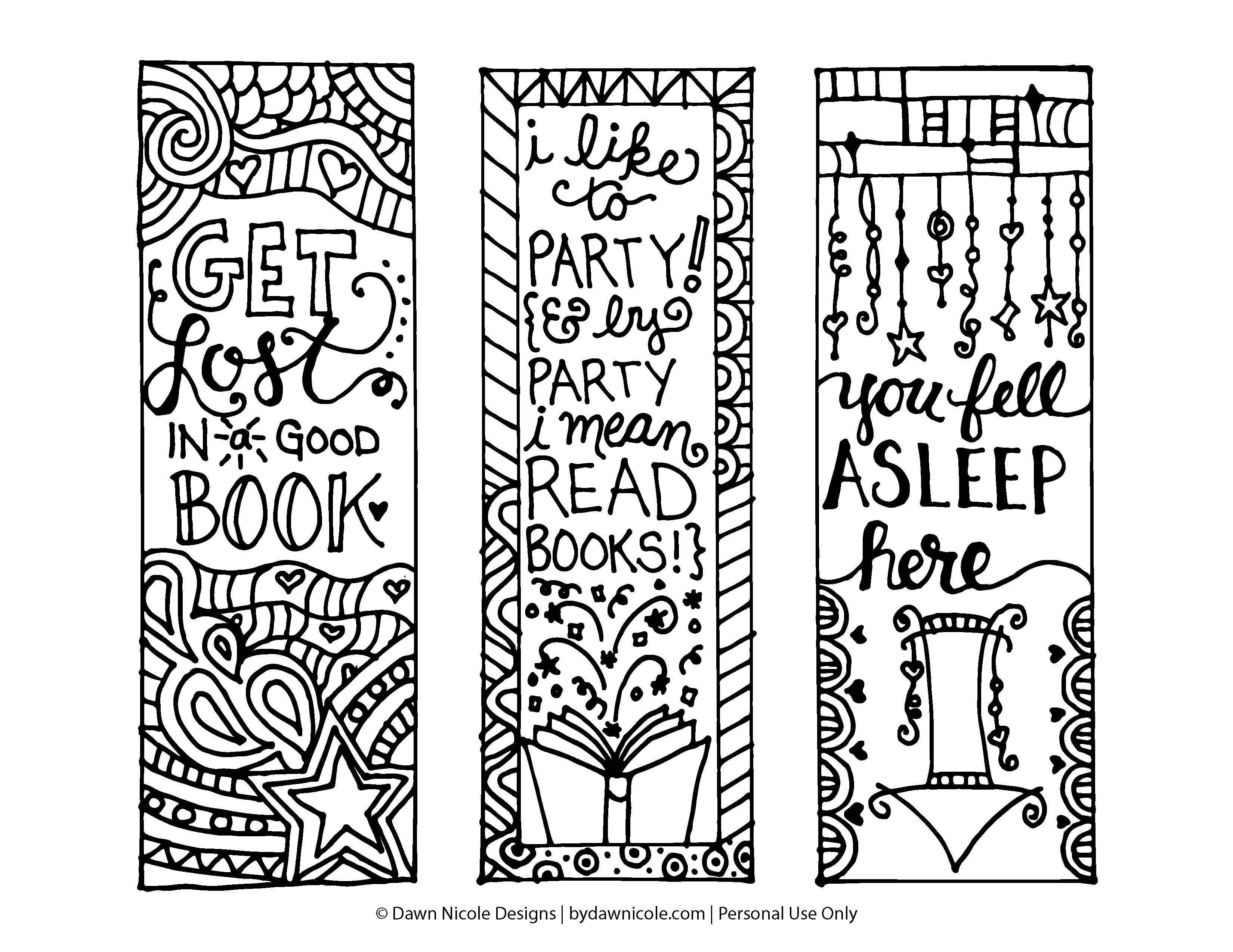 Bookmarks Coloring Pages Coloring Home