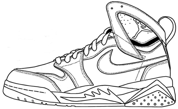 Air Jordan Shoe Coloring Pages Printable 1 | Nike shoes jordans, Jordans,  Jordan shoes
