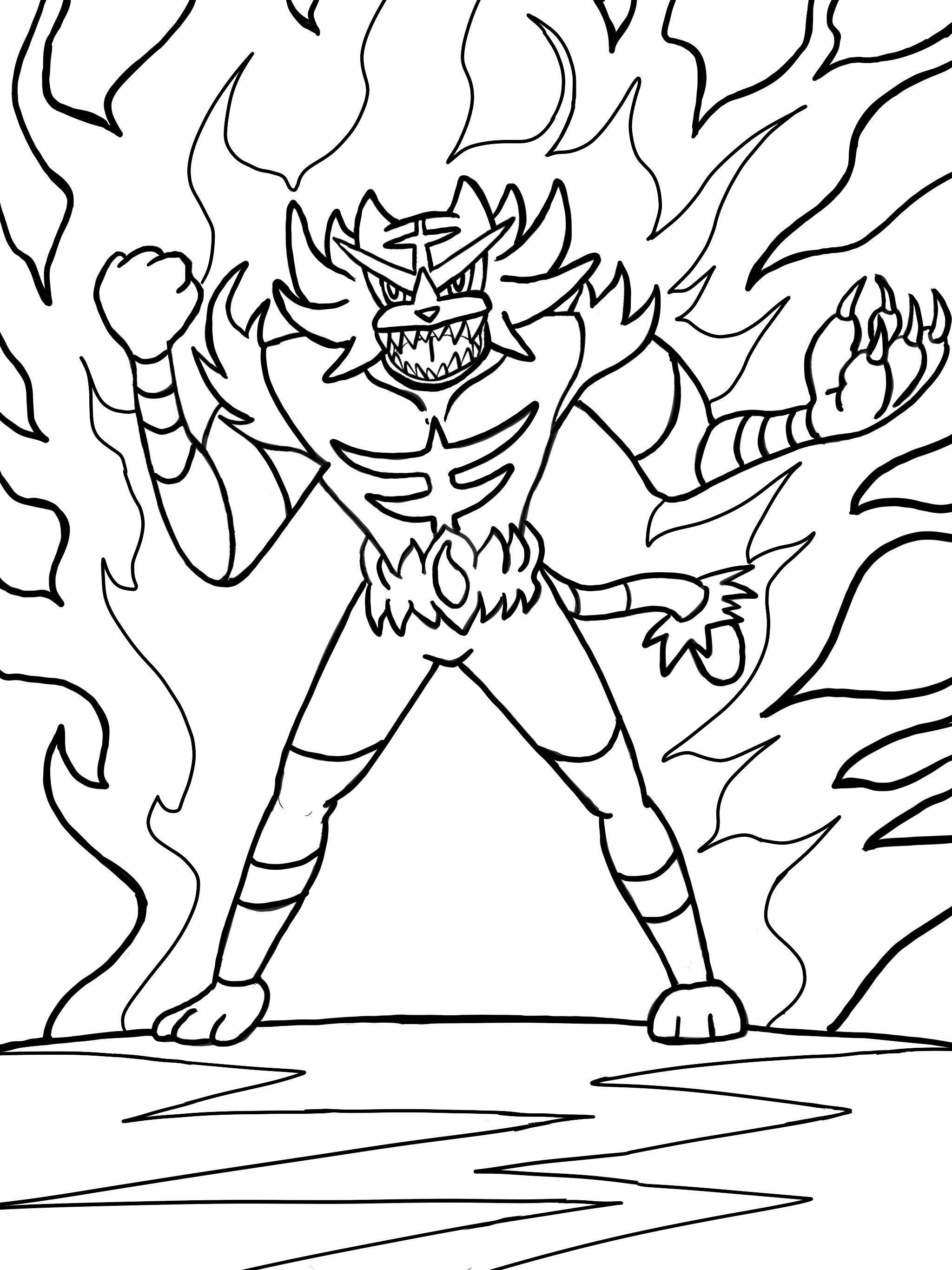 Pokemon Incineroar Coloring Pages – Through the thousands of pictures  on-line about pokemon inciner… | Moon coloring pages, Pokemon coloring pages,  Pokemon coloring