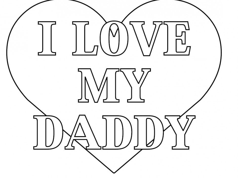 Free I Love You Daddy Coloring Pages - Coloring Kids