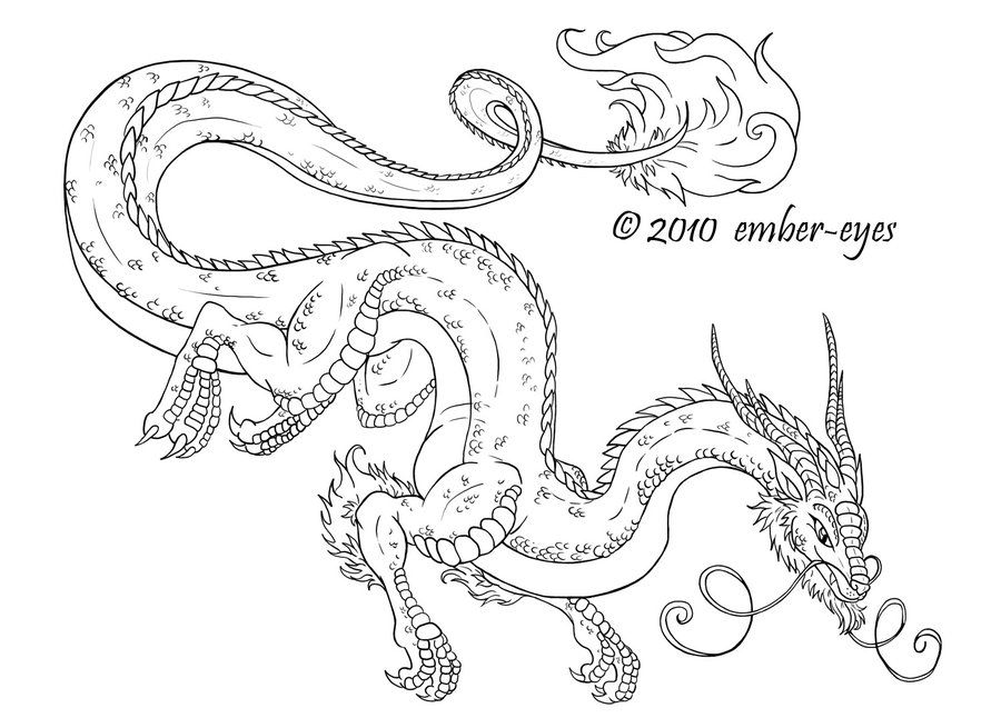 detailed dragon coloring pages - photo #21