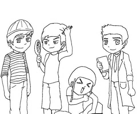 big time rush coloring pages - photo#8