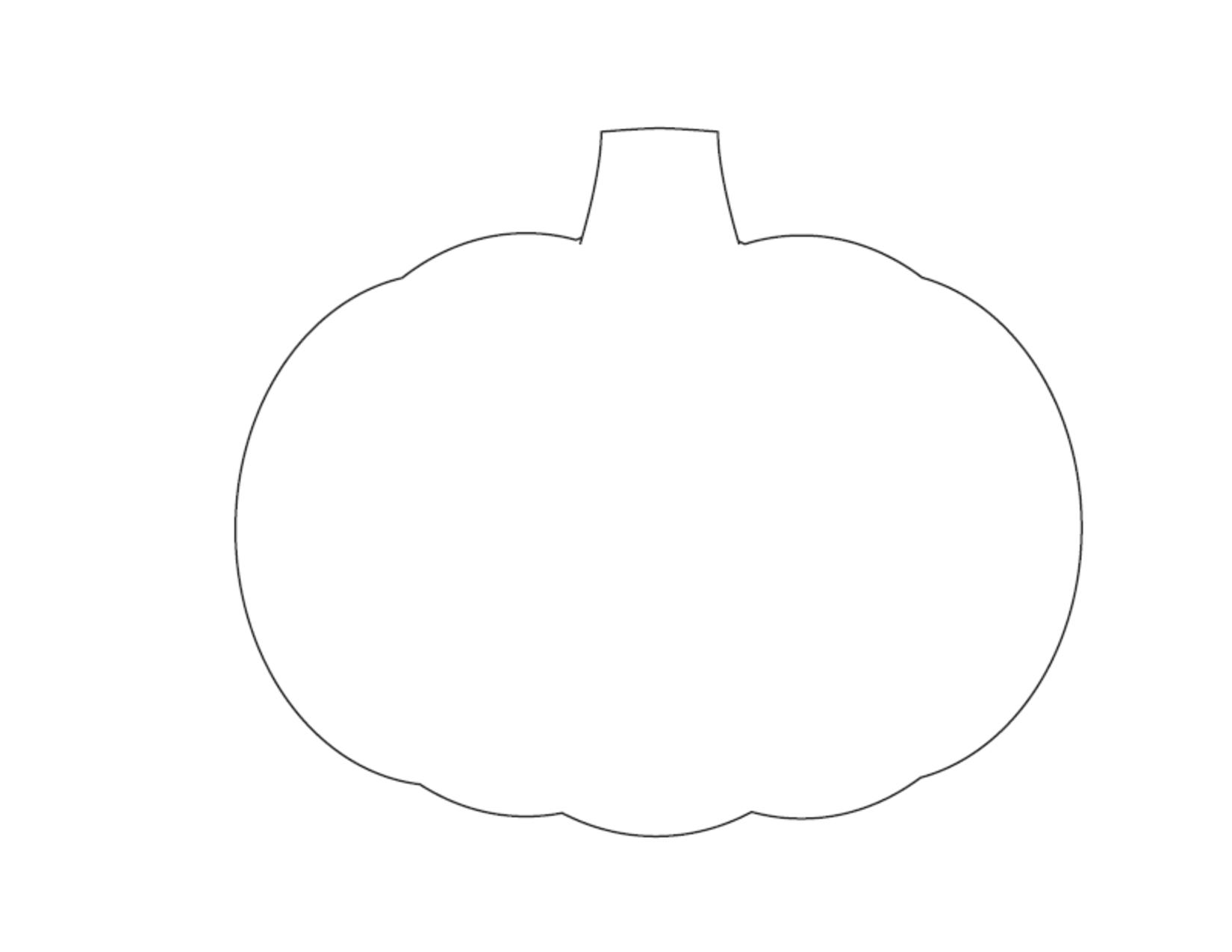 Printable Pumpkin Outline - AZ Coloring Pages
