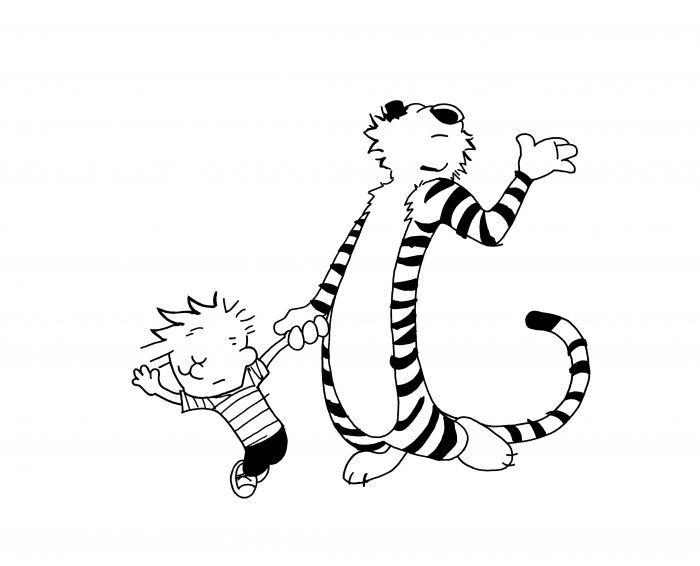 calvin and hobbes coloring pages coloring pages kids collection
