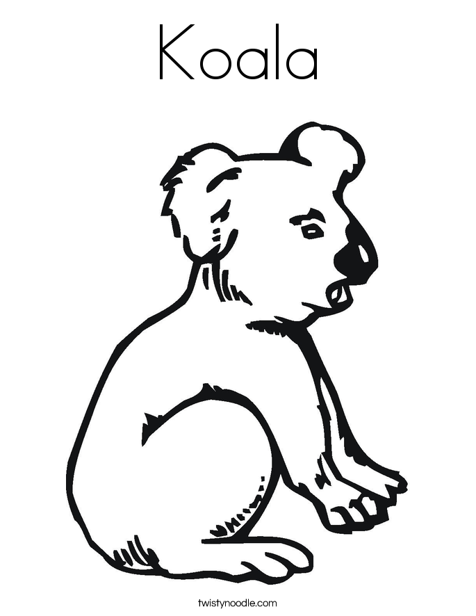 online koala coloring pages - photo#10