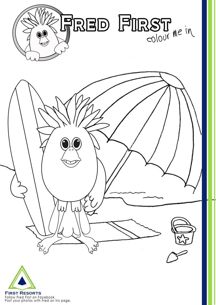 free surfs up coloring pages - photo#29