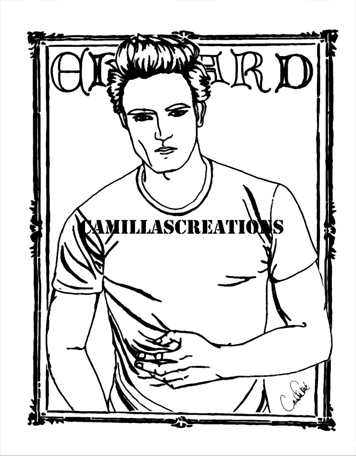 printable twilight coloring pages - photo#31