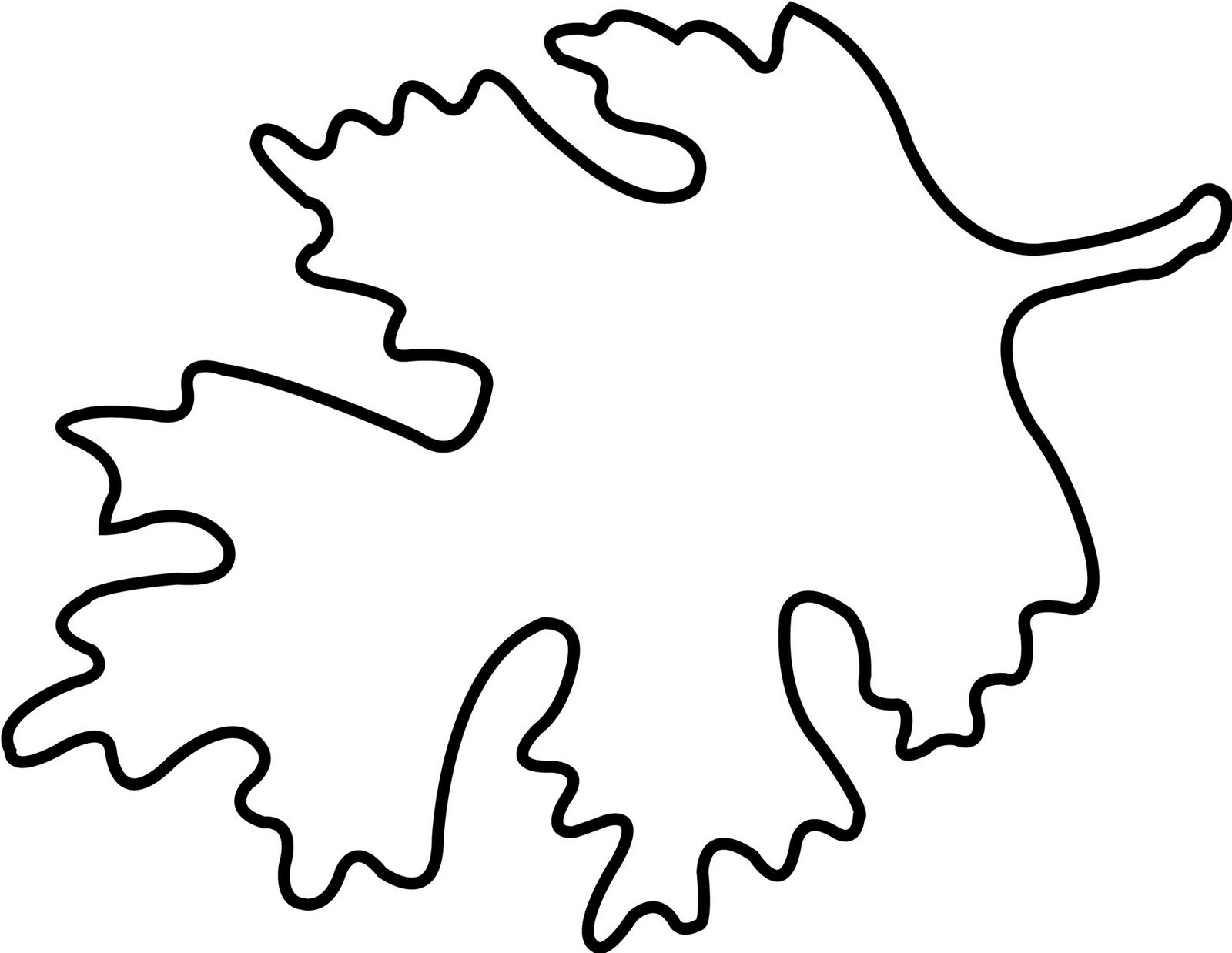 Large Leaf Template - AZ Coloring Pages