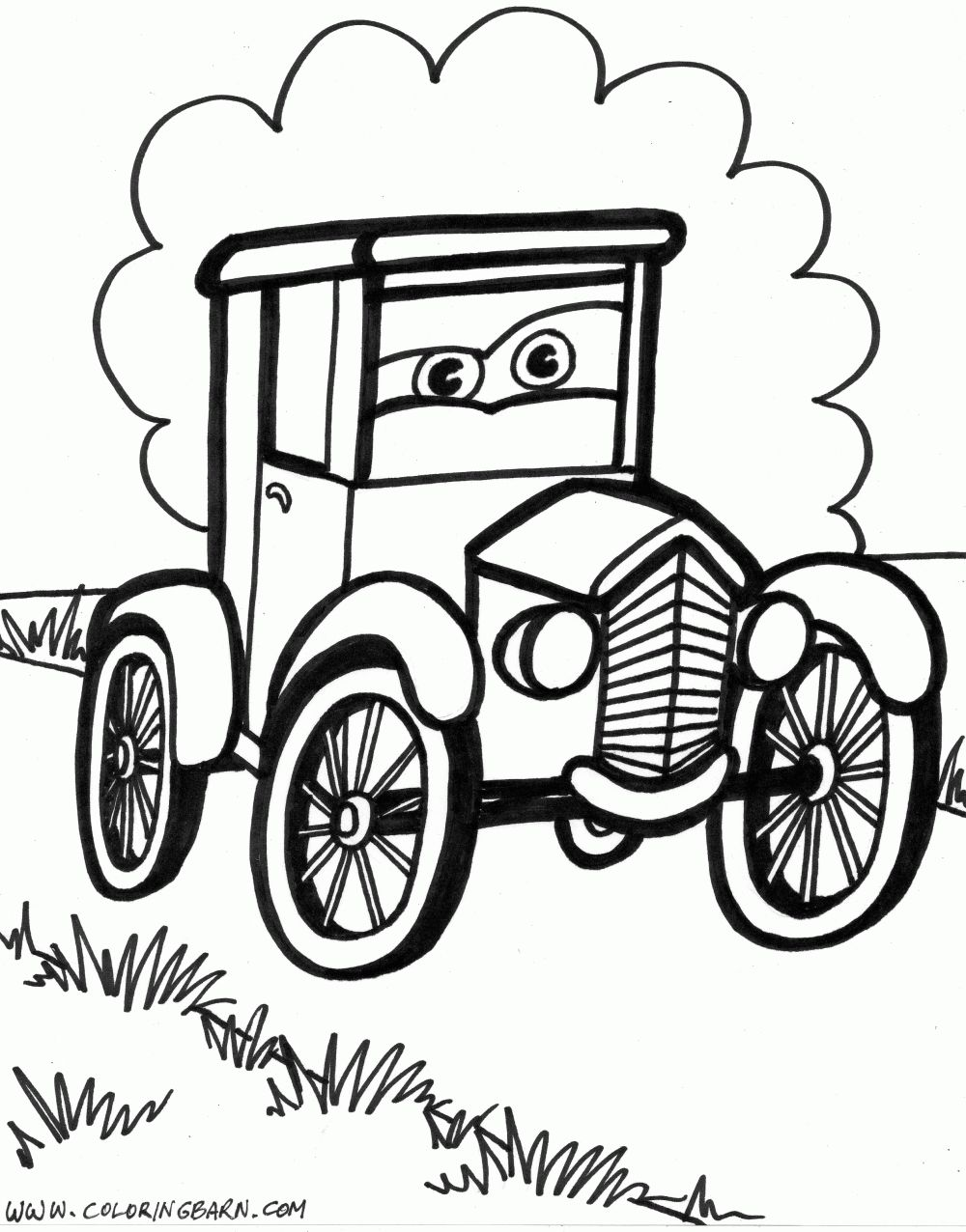 old cars coloring pages coloring home. Black Bedroom Furniture Sets. Home Design Ideas