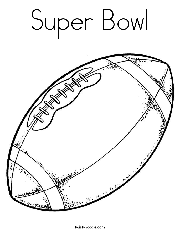 Football Coloring Pages - Twisty Noodle