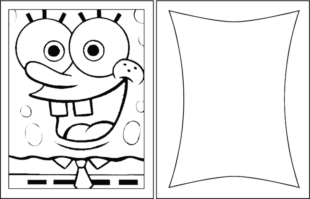Spongebob Happy Birthday Coloring Pages