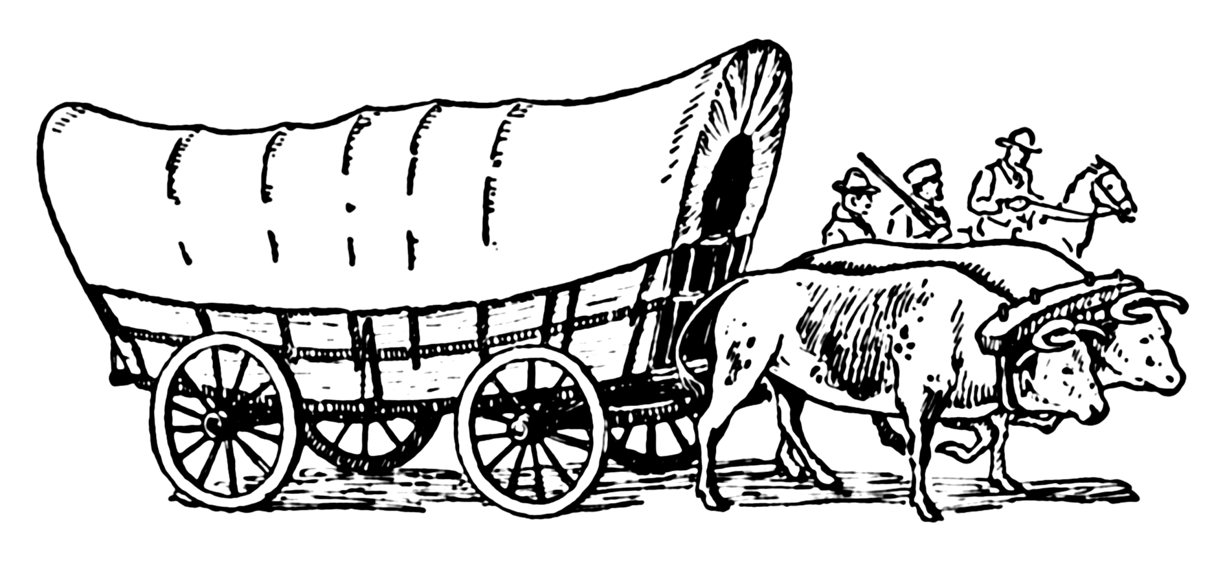 Covered wagon coloring page coloring home for Wagon coloring pages