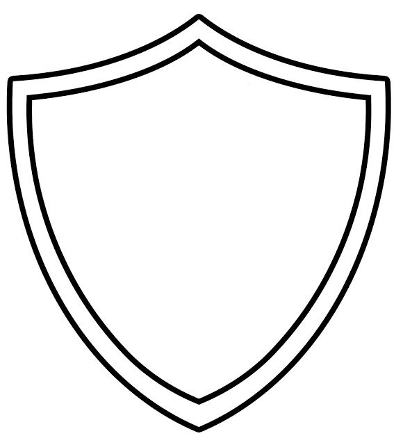 Ctr Shield Coloring Page Az Coloring Pages Shield Coloring Page