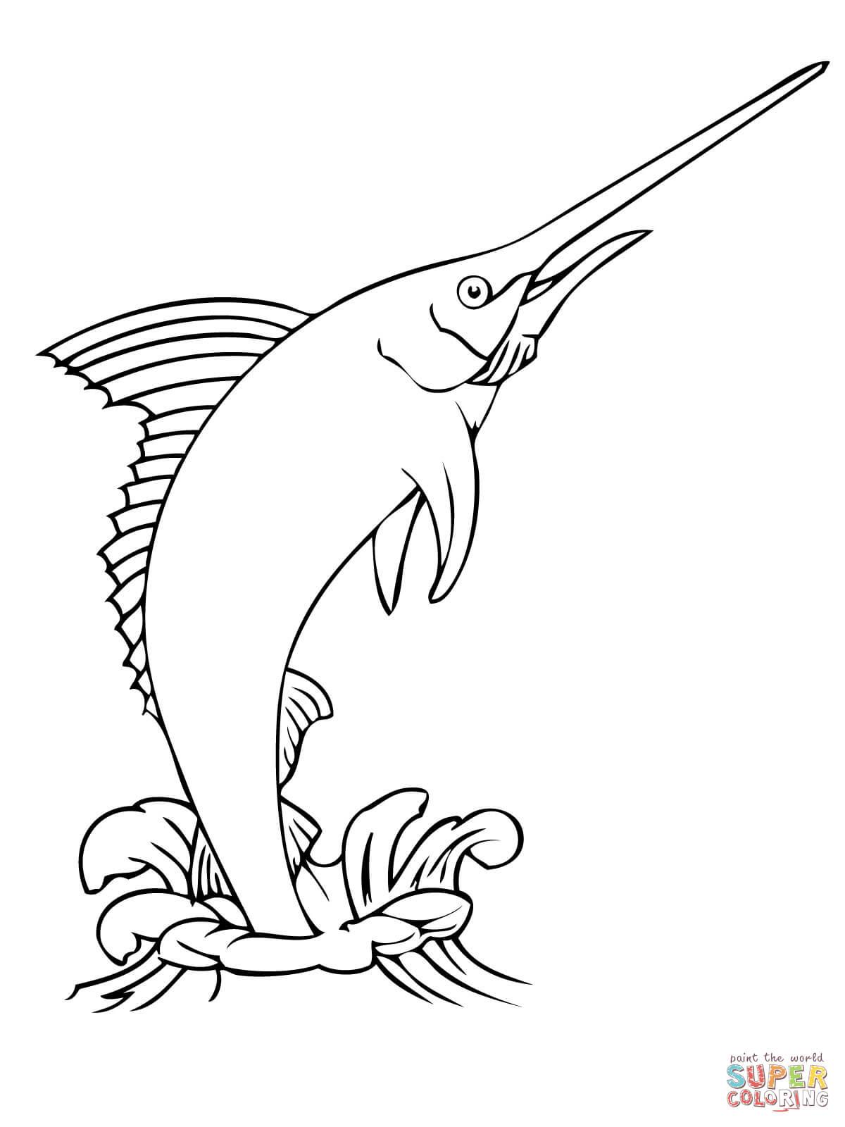 Marlin Fish Coloring Page