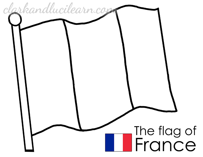 French Flag Coloring Page