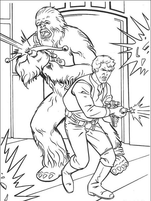 Chewbacca coloring pages coloring home for Han solo coloring page