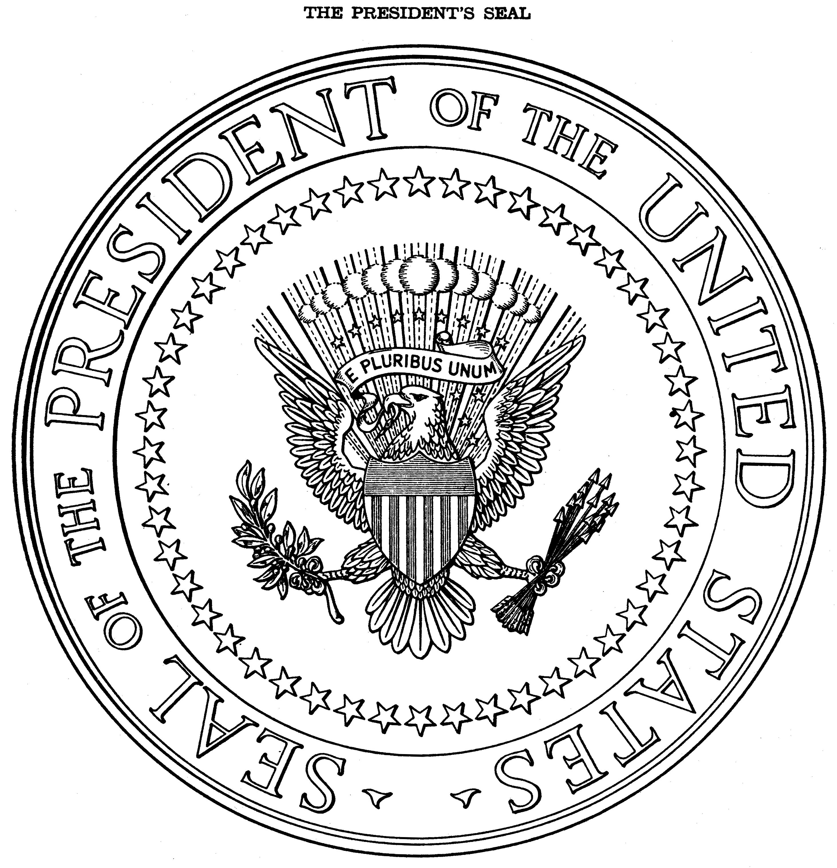 Presidential seal coloring page az coloring pages for United states seal coloring page