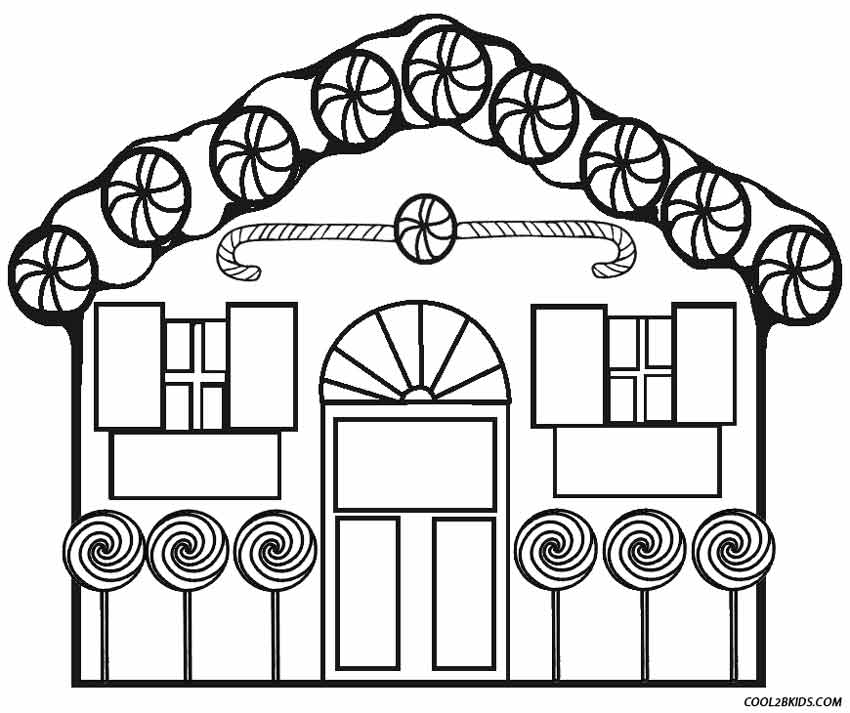 Gingerbread House Color Coloring Pages For Kids And For Adults Coloring Home