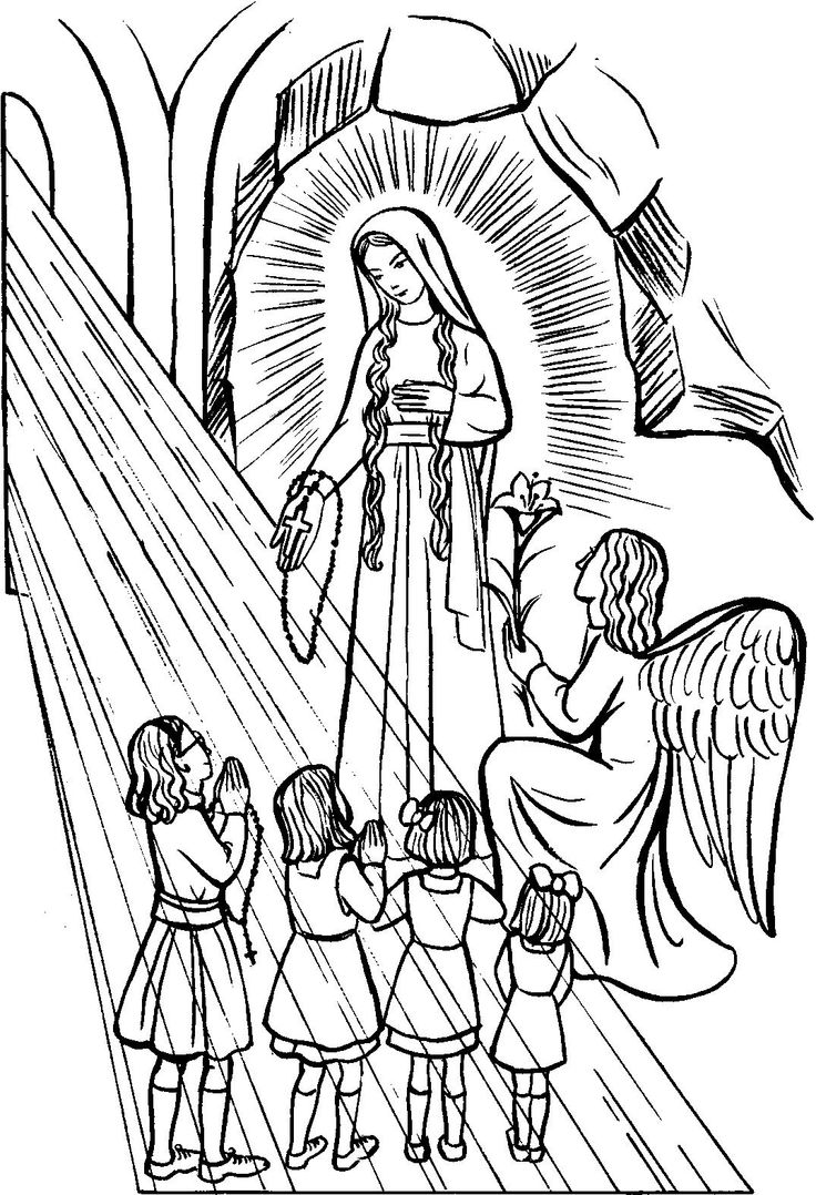 Line Drawing Virgin Mary : Our lady of guadalupe coloring pages home