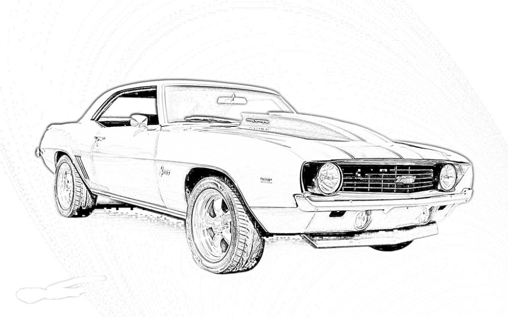 Muscle Car Coloring Pages : Muscle car coloring pages az