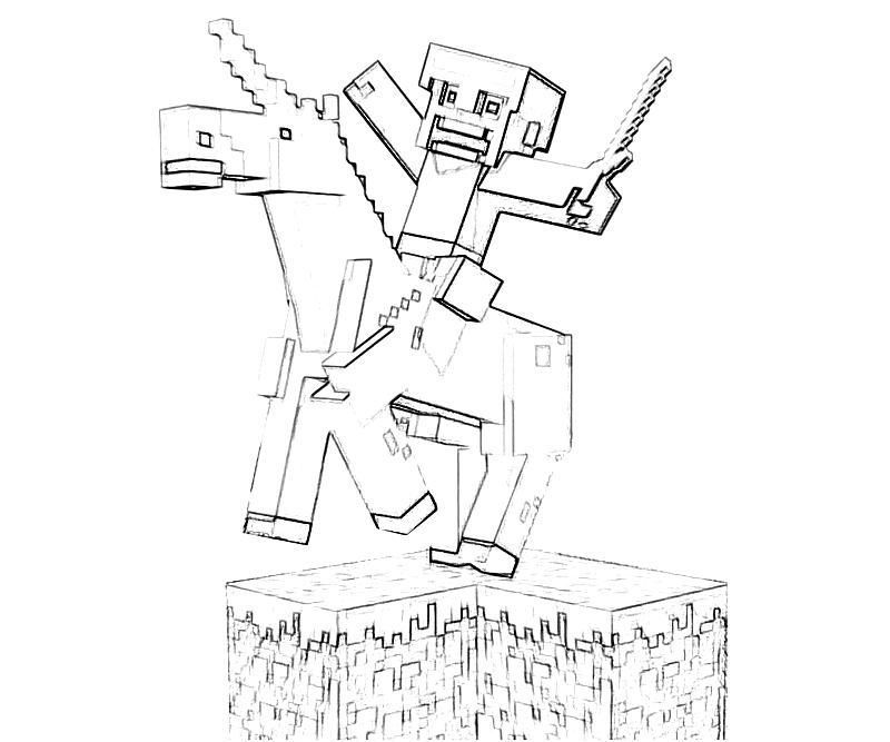Minecraft Horse Coloring Page - Coloring Home