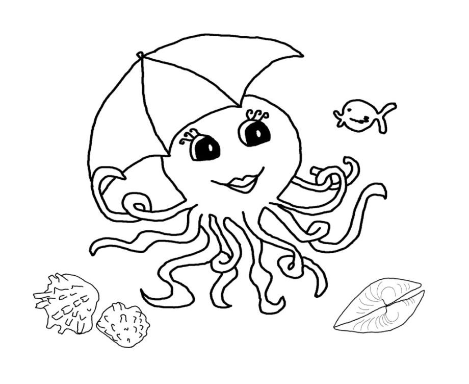 henry the ocotopus coloring pages - photo#5