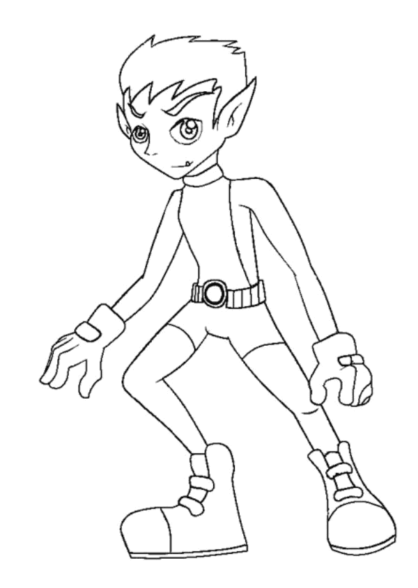 Beast Boy Coloring Pages Coloring