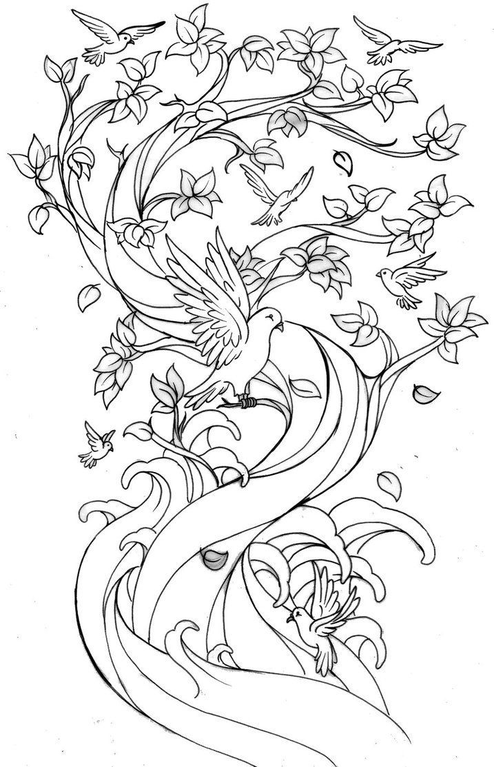 blossoms coloring pages - photo#22
