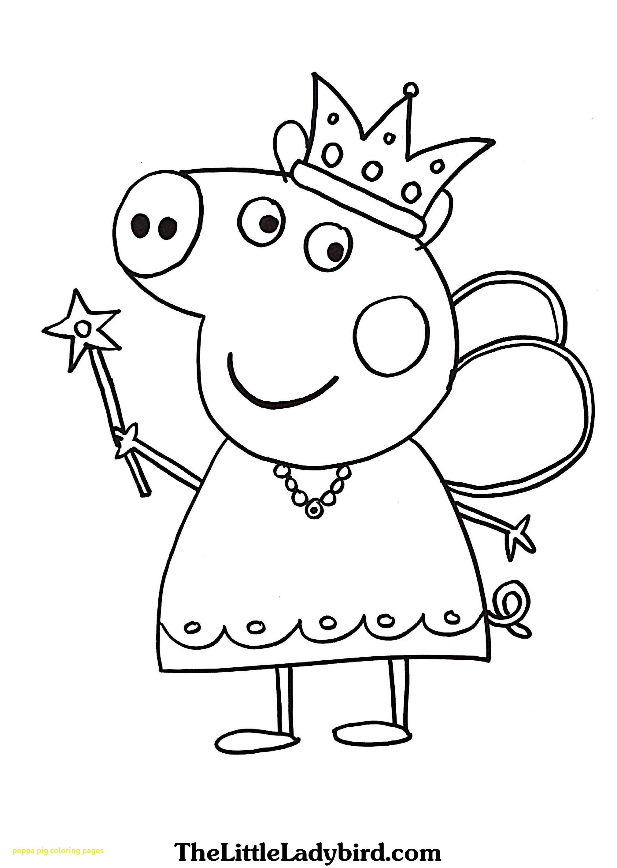 Peppa Pig Princess Coloring Pages - Coloring Home